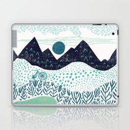 Mountain Biking - The Gravel Path Less Traveled Laptop & iPad Skin