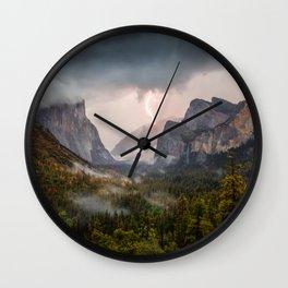 Yosemite National Park Light Show Wall Clock