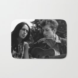 Bob Dylan and Joan Baez at the March on Washington, 1963 Bath Mat