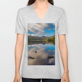 Lake Crafnant Snowdonia Unisex V-Neck
