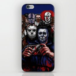 Horror Villains Selfie iPhone Skin