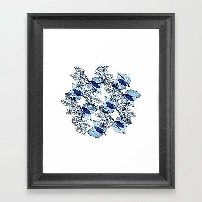 Tropical Leaves Framed Art Print By Oeilbleu Society6