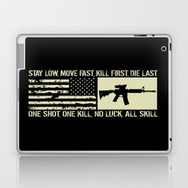 M4 Assault Rifle & Tactical Flag Laptop & iPad Skin