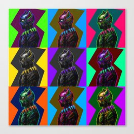 Panther in Wakanda technicolor Canvas Print