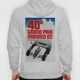 Gran Prix de Monaco, 1982, original vintage poster Hoody
