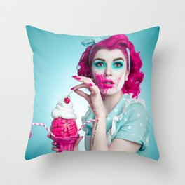 Zombie Housewife Throw Pillow