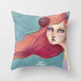 Beautiful Faces by Jane Davenport Throw Pillow