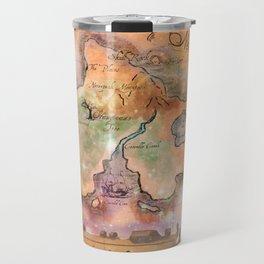 Never Land Map Travel Mug