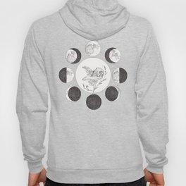 Raven Skull with Moon Cycle Hoody