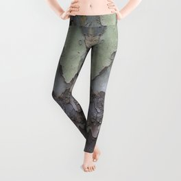 sycamore bark with a green tinge Leggings