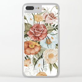 Roses and Poppies Clear iPhone Case