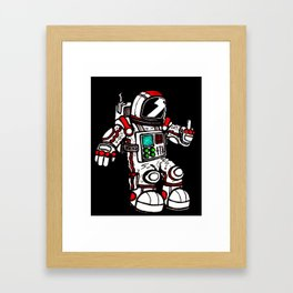 astronaughty Framed Art Print