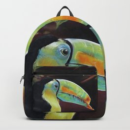 Toco Toucan (Ramphastos Toco) Pastels Artwork Backpack
