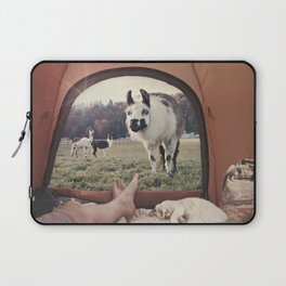 ALPACA  - CAMPING WITH FRIENDS Laptop Sleeve