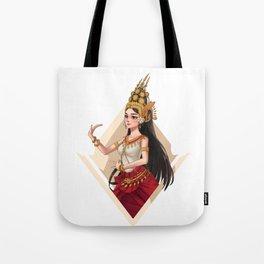 Apsara Dancer Tote Bag