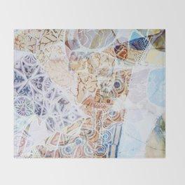 Mosaic of Barcelona IX Throw Blanket