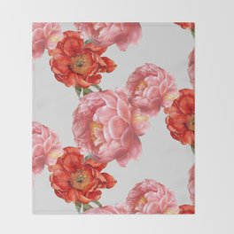 vintage floral Throw Blanket