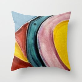 The Kandinsky's Chubby Bird 2 Throw Pillow