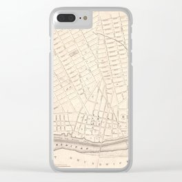 Vintage Map of New Brunswick NJ (1837) Clear iPhone Case