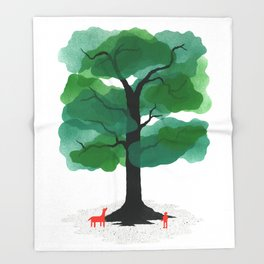 Man & Nature - The Tree of Life Throw Blanket
