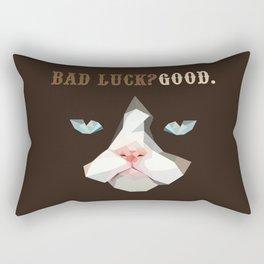 Grumpy Bad Luck Cat Rectangular Pillow