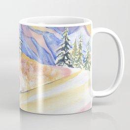 Powder Skiing Art Coffee Mug