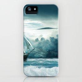 Blue Ocean Ship Storm Clouds iPhone Case