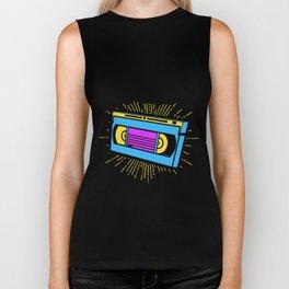 retro cassette vhs vcr Biker Tank