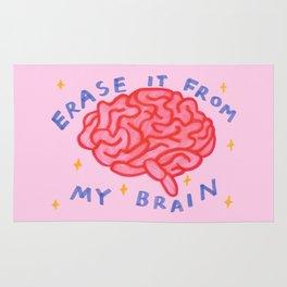 erase it from my brain Rug