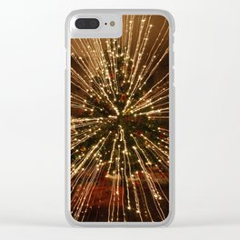 Christmas Tree - Big Explosion Clear iPhone Case