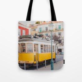 Yellow Tram in Lisbon Tote Bag