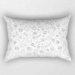 Outta Space white Rectangular Pillow