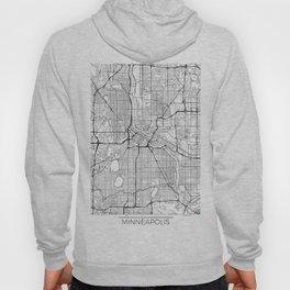 Minneapolis Map White Hoody