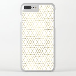 Modern Art Deco Geometric 1 Clear iPhone Case