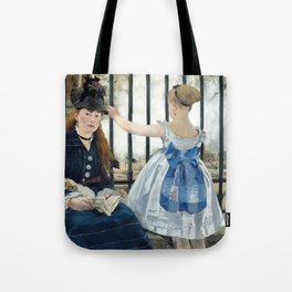 Edouard Manet - Le Chemin de fer (The Railroad) Tote Bag