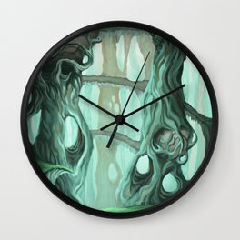 the nest of dragons Wall Clock