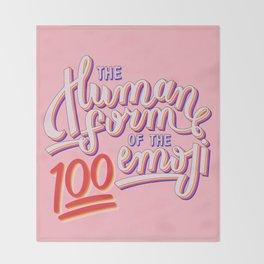 100 Emoji Throw Blanket