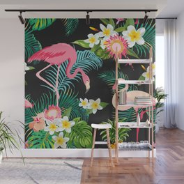 Flamingo Dance Wall Mural