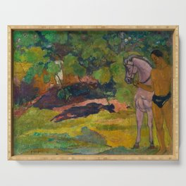 "Paul Gauguin ""In the Vanilla Grove, Man and Horse"" Serving Tray"