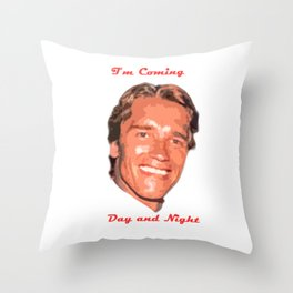 Coming Day and Night Throw Pillow