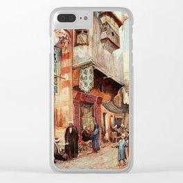 Tyrwhitt, Walter (1859-1932) - Cairo, Jerusalem, and Damascus 1912, A street scene in Cairo Clear iPhone Case