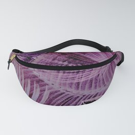 abstract neon tropical palm tree yucca leaves Fanny Pack