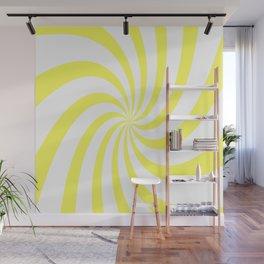 Spiral (Yellow & White Pattern) Wall Mural
