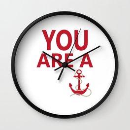 You Are A Wanker Vintage Anchor Nautical Nantucket Shirt Wall Clock