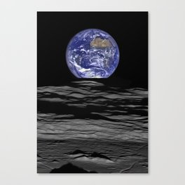 Earth Rising over the Horizon of the Moon Canvas Print