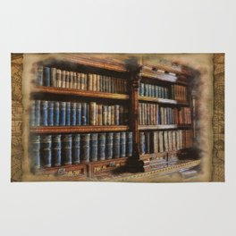 Knowledge - Antique Books on History & Law Rug