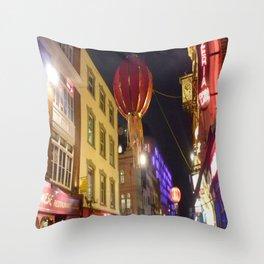 Christmas China Town, London  Throw Pillow