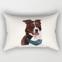 Chip the Border Collie Rectangular Pillow