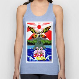 TOHO Moth and Lizard Unisex Tank Top