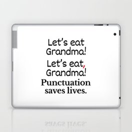 Let's Eat Grandma Punctuation Saves Lives Laptop & iPad Skin